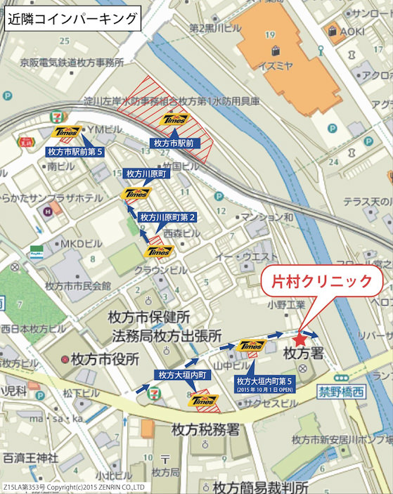 Times駐車場地図